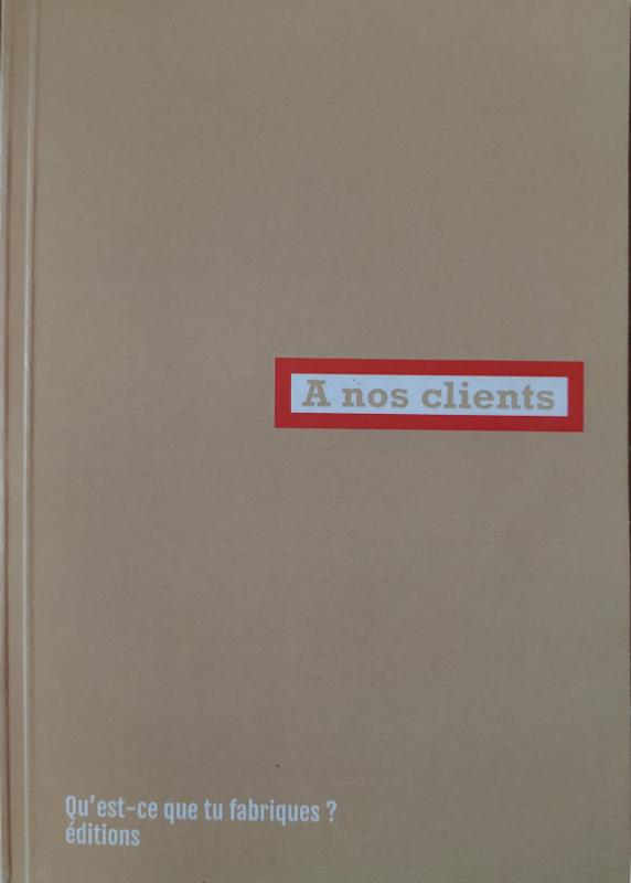 Couverture d'ouvrage: A nos clients