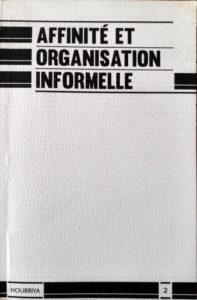 Couverture d'ouvrage: Affinité et organisation informelle