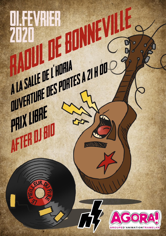 Affiche concert Raoul de Bonneville