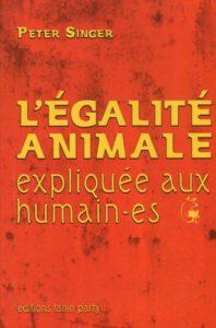 Couverture d'ouvrage: L'égalité animale